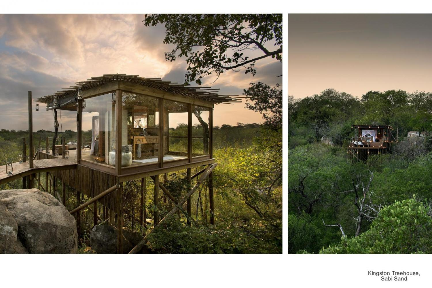 Das Kingston Treehouse, Sabi Sand in Südafrika