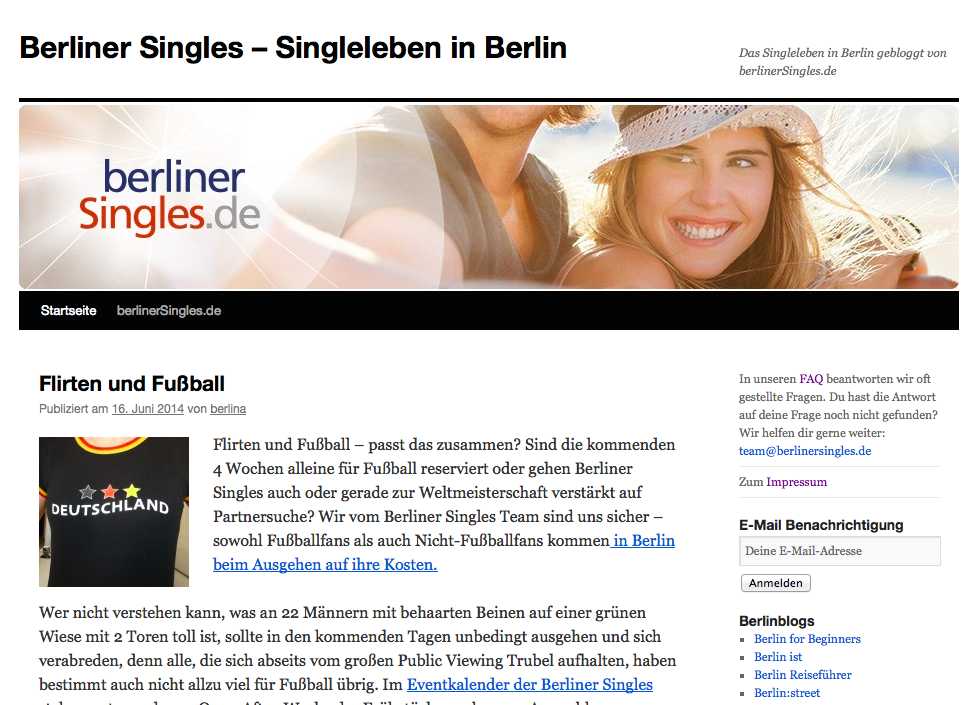 Single berlin blog