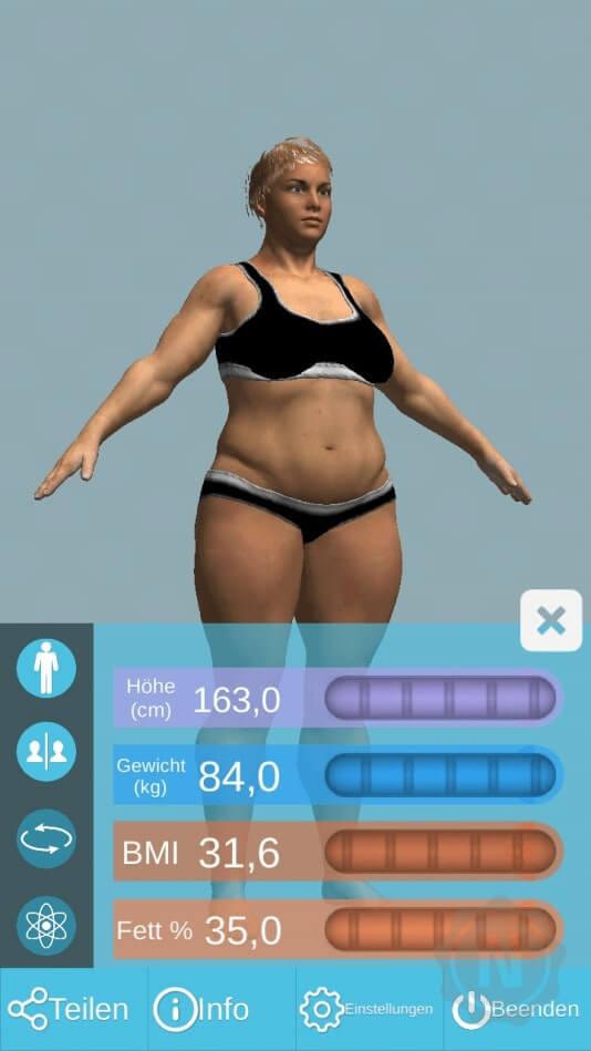 Figur normalgewicht Dicker Bauch,