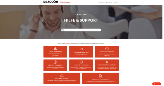 DRACOON Support
