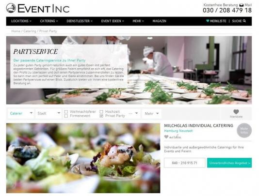 Event Inc Service-Leistungen