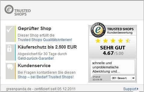 GreenPanda.de Trusted Shop