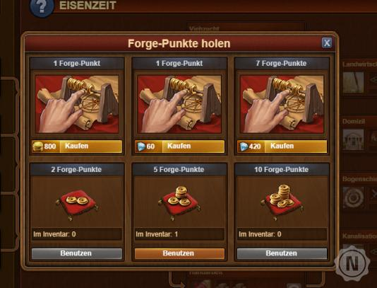 Forge of Empires Punkte kaufen