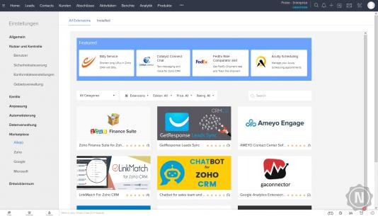 Zoho CRM Marketplace
