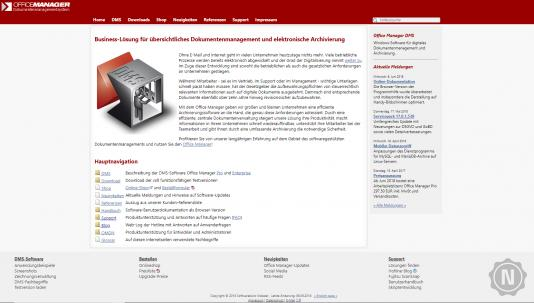 Office Manager Website
