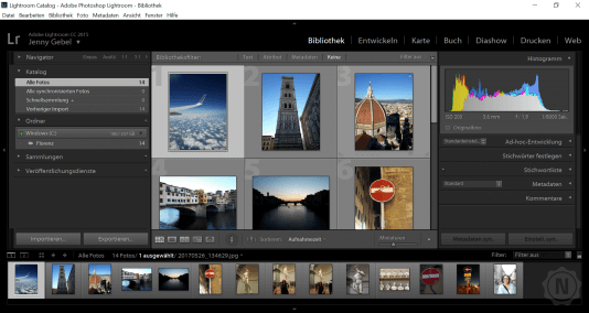 Adobe Lightroom Userinface