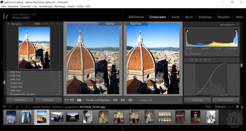 Adobe Lightroom Bildoptimierung