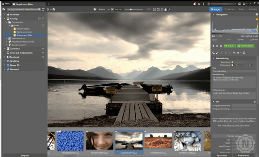 Interface von Zoner Photos Studio X