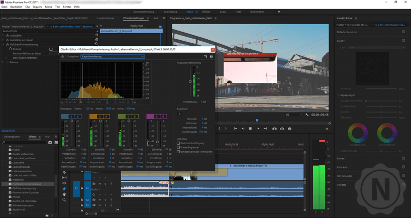 Premiere Pro Audiosettings