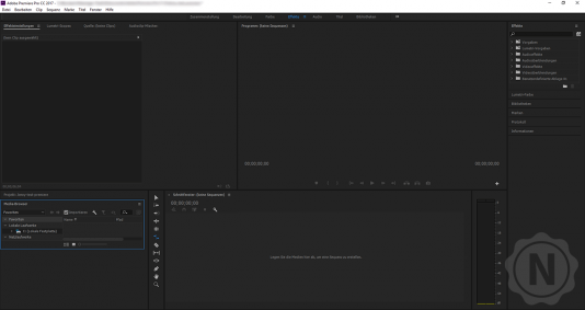 Premiere Pro Userinterface Start