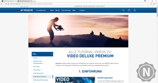 Magix Video Deluxe Premium Support