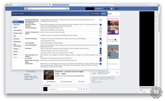 Social Fixer for Facebook Plug-In