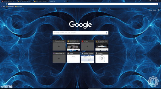 Chrome Theme Abstract Blue