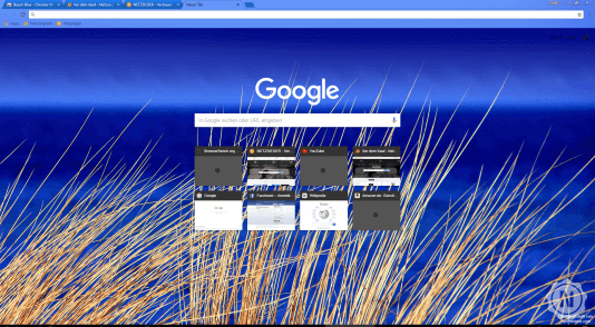 Chrome Theme Beach Blue
