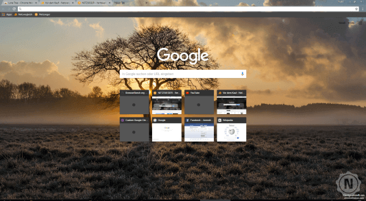 Chrome Theme Lone Tree