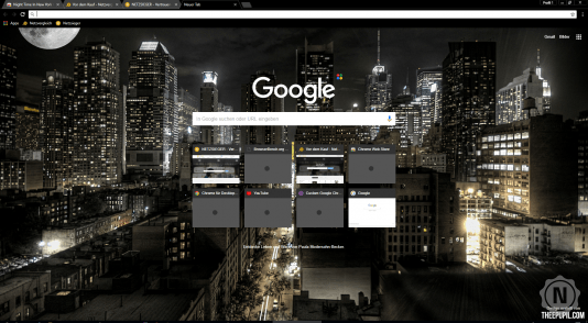 Chrome Theme Night Time in New York City