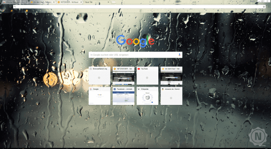Chrome Theme Regentropfen