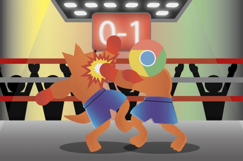 Chrome vs. Firefox 0:1