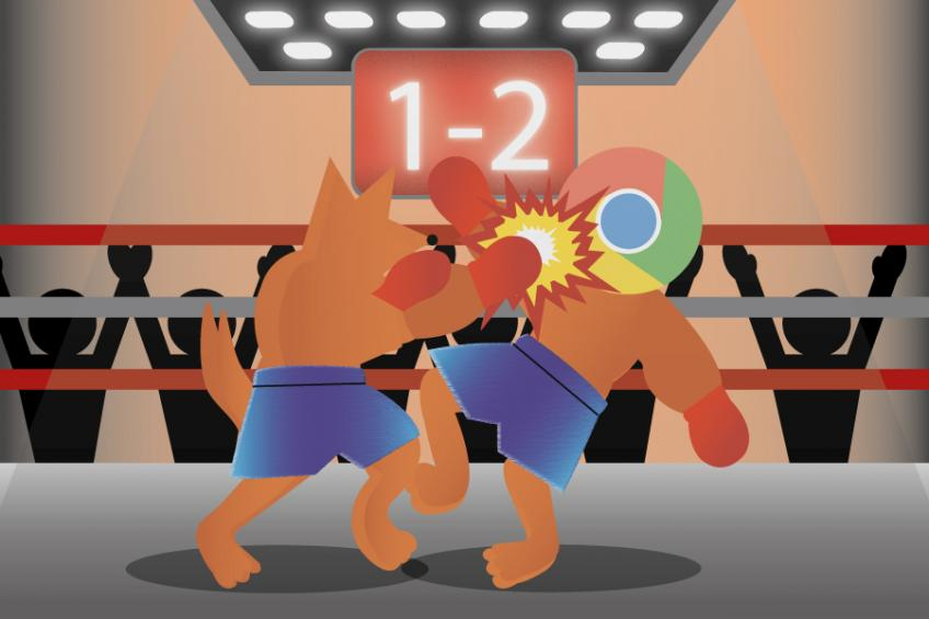 Chrome vs. Firefox 1:2