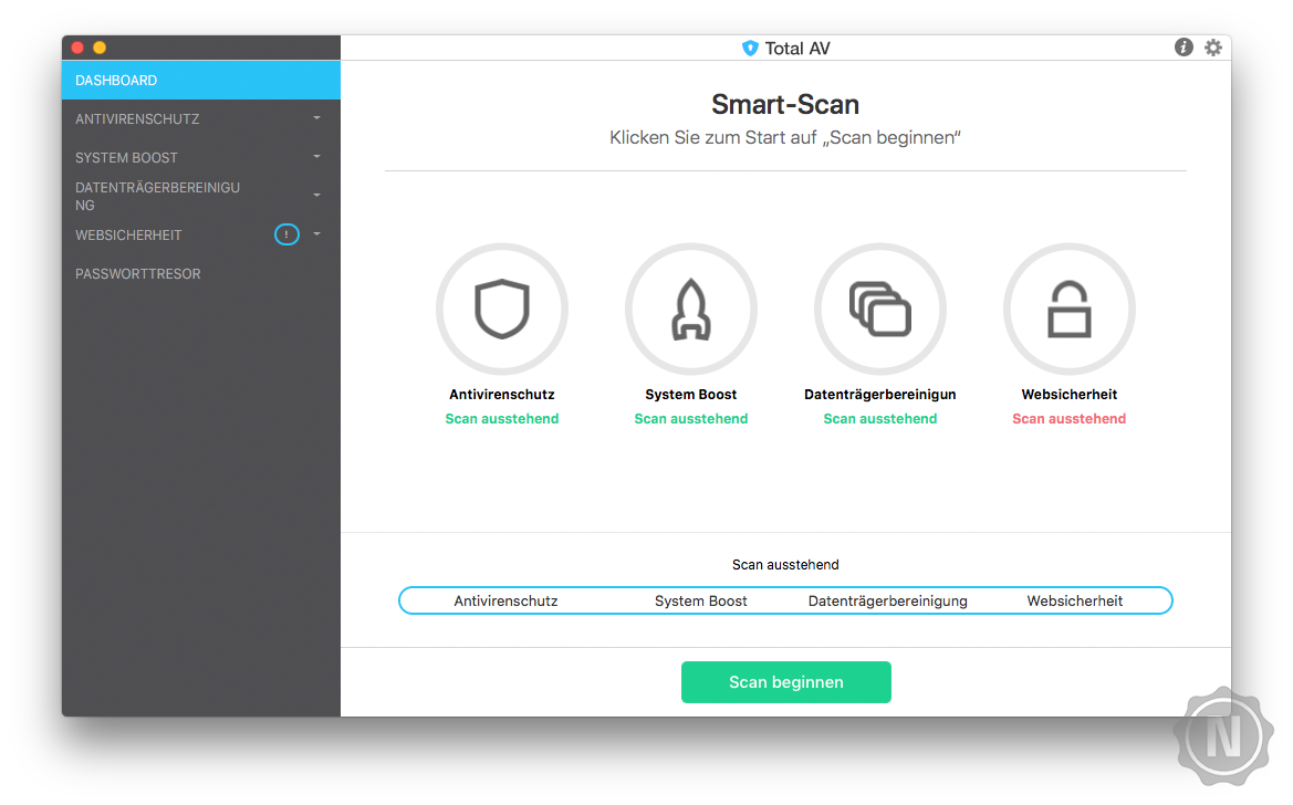 TotalAV Essential Antivirus für Mac im Test 2019   Netzsieger