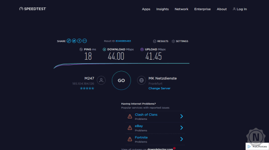 UltraVPN Speedtest